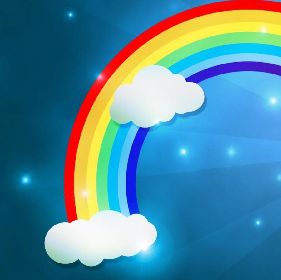Картинки с мультяшными радугами