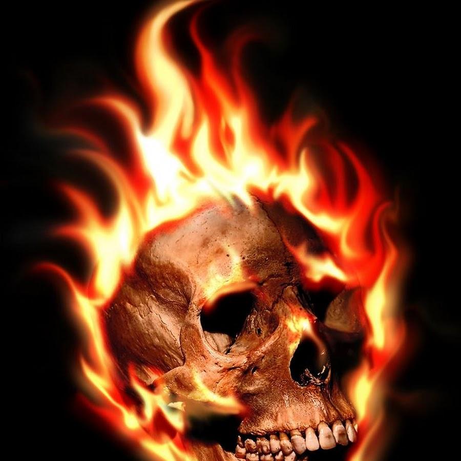 огненные картинки скелет