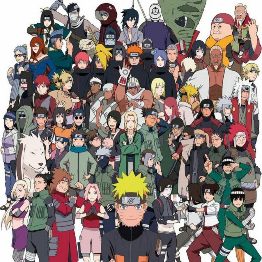 Аниме картинки наруто все персонажи