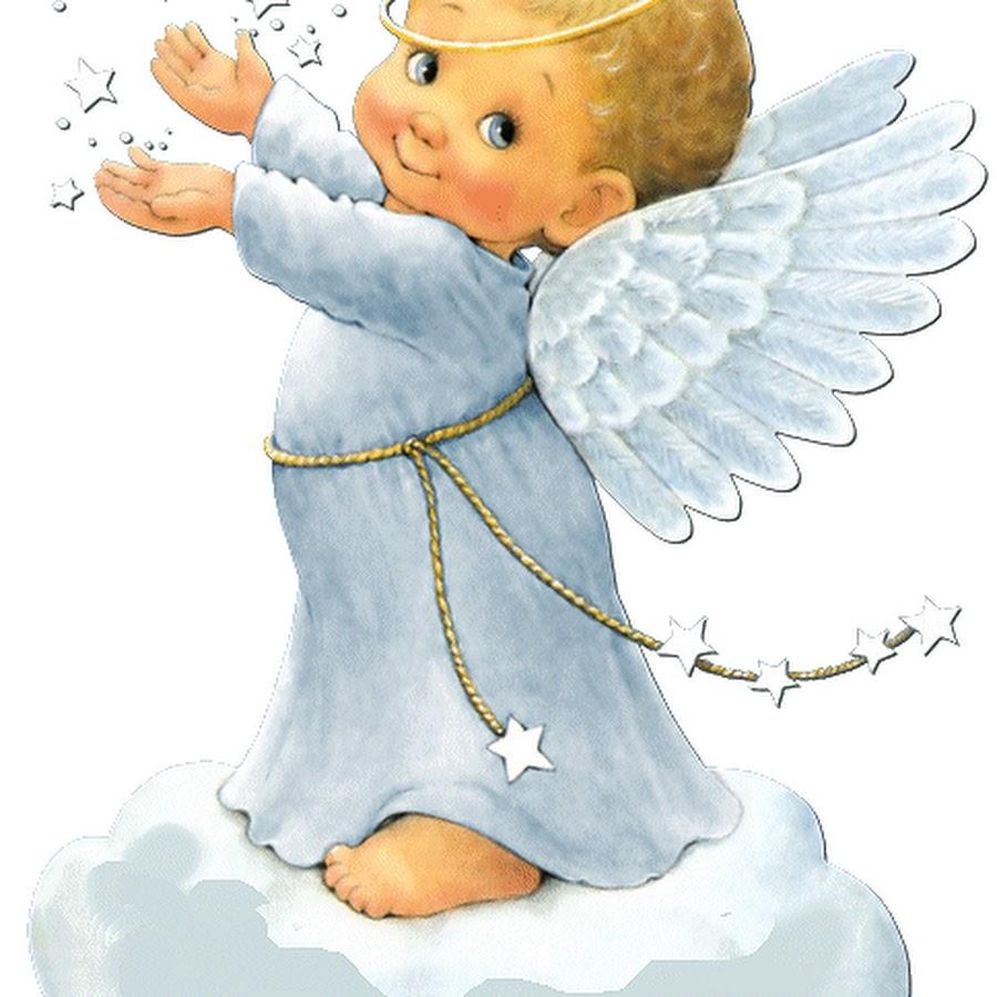 Открытка ангелочек мальчик