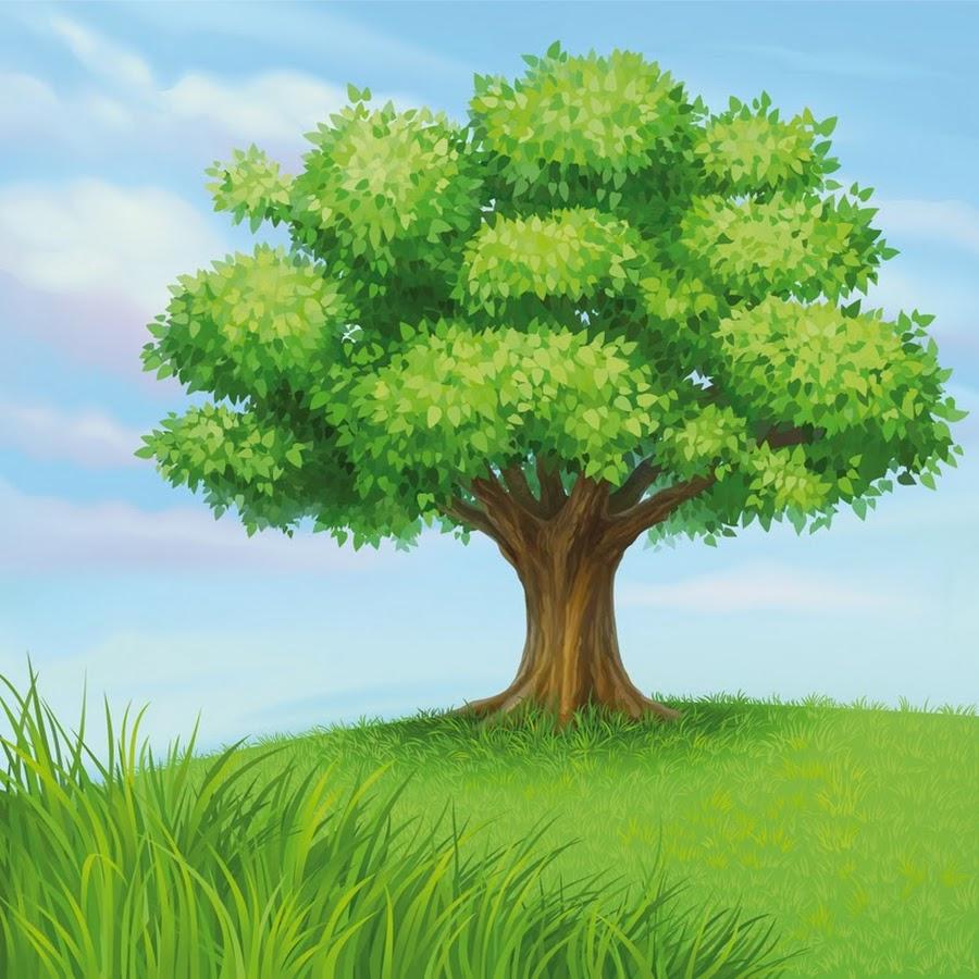 картинка большого дерева в рисунках любите