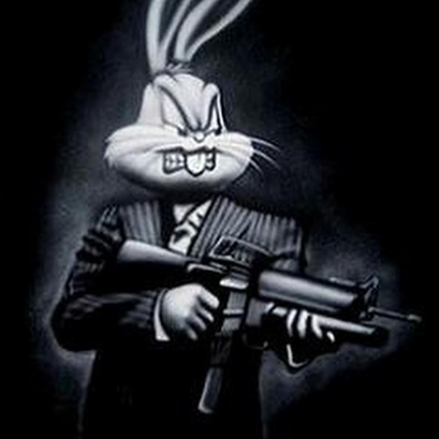 картинка злой заяц с двумя стволами факт