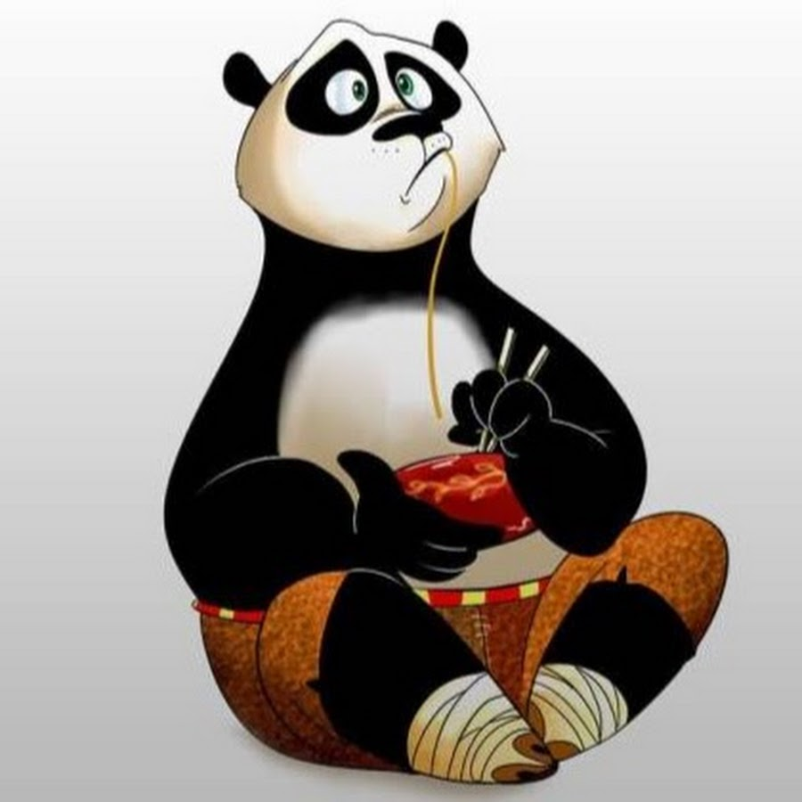 Панда открытки прикольные