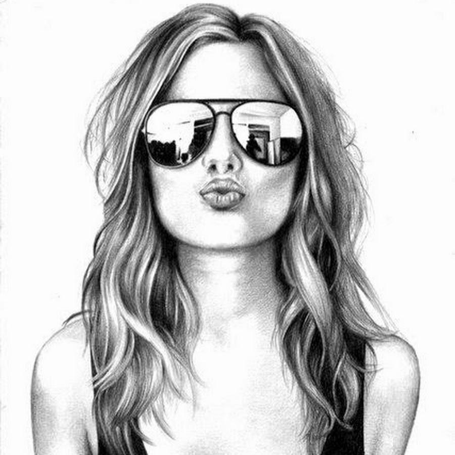Картинки на аву для девушек карандашом