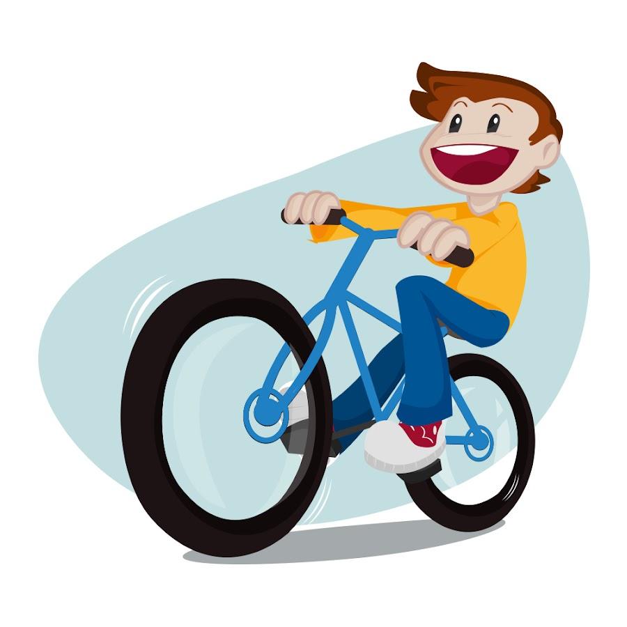 Детская картинка велосипедиста