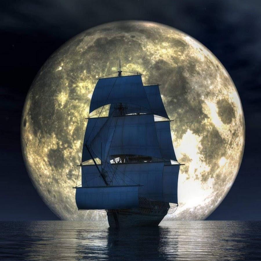 картинки на телефон океан с луной и кораблями навоз доставкой