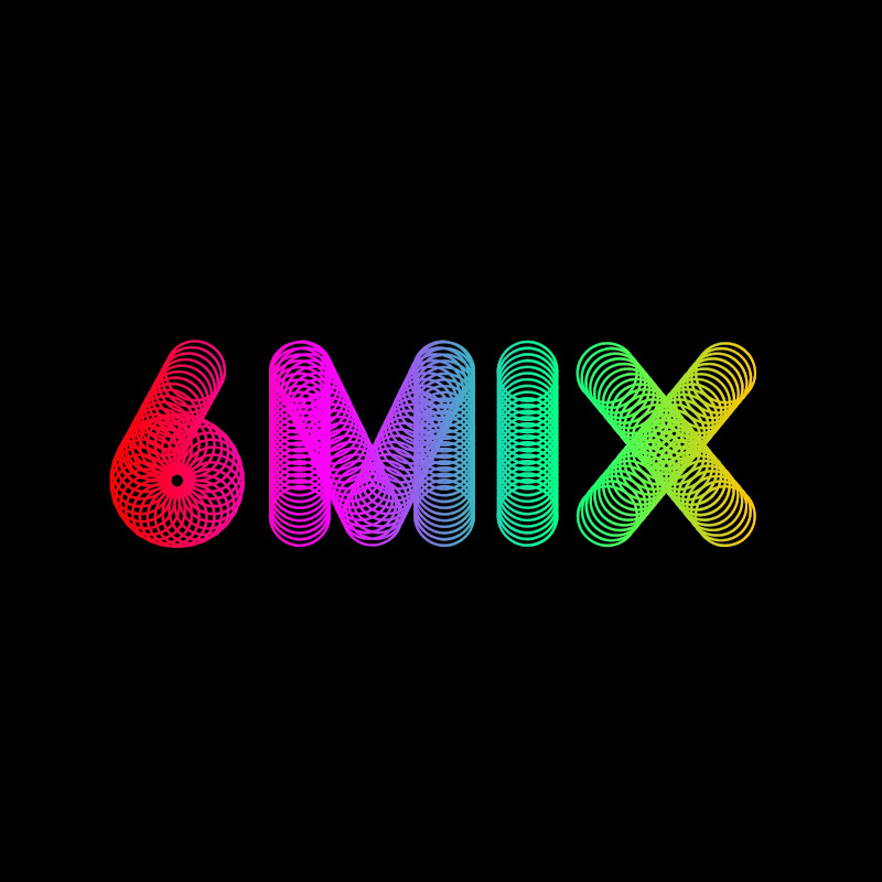 Logo for 6MIX cover dance team
