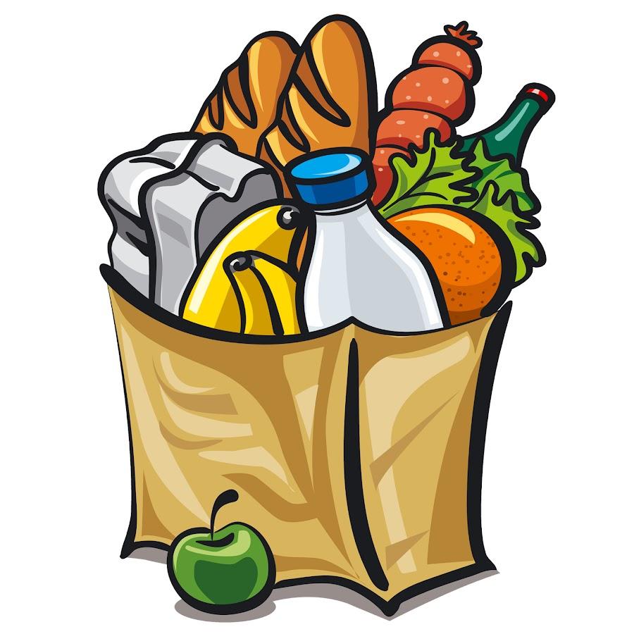 Картинка для детей пакет с продуктами