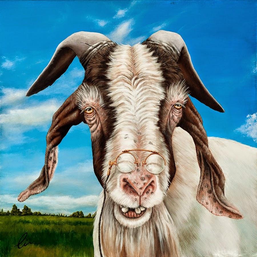 Рисунки смешного козла