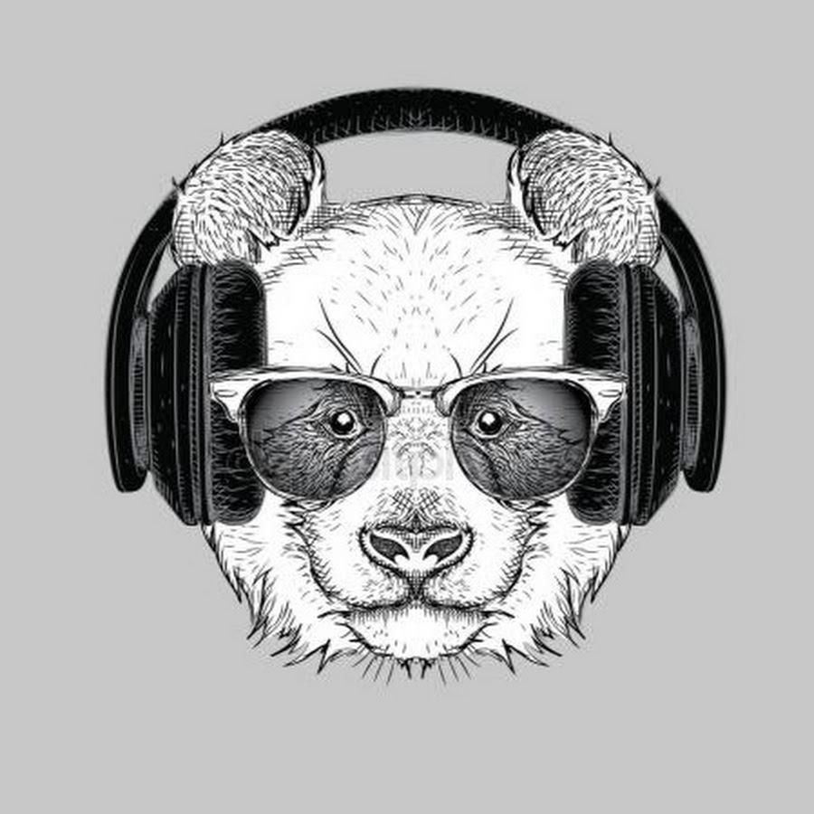 лазерный картинки панда в очках и наушниках комплект вырубных фигур