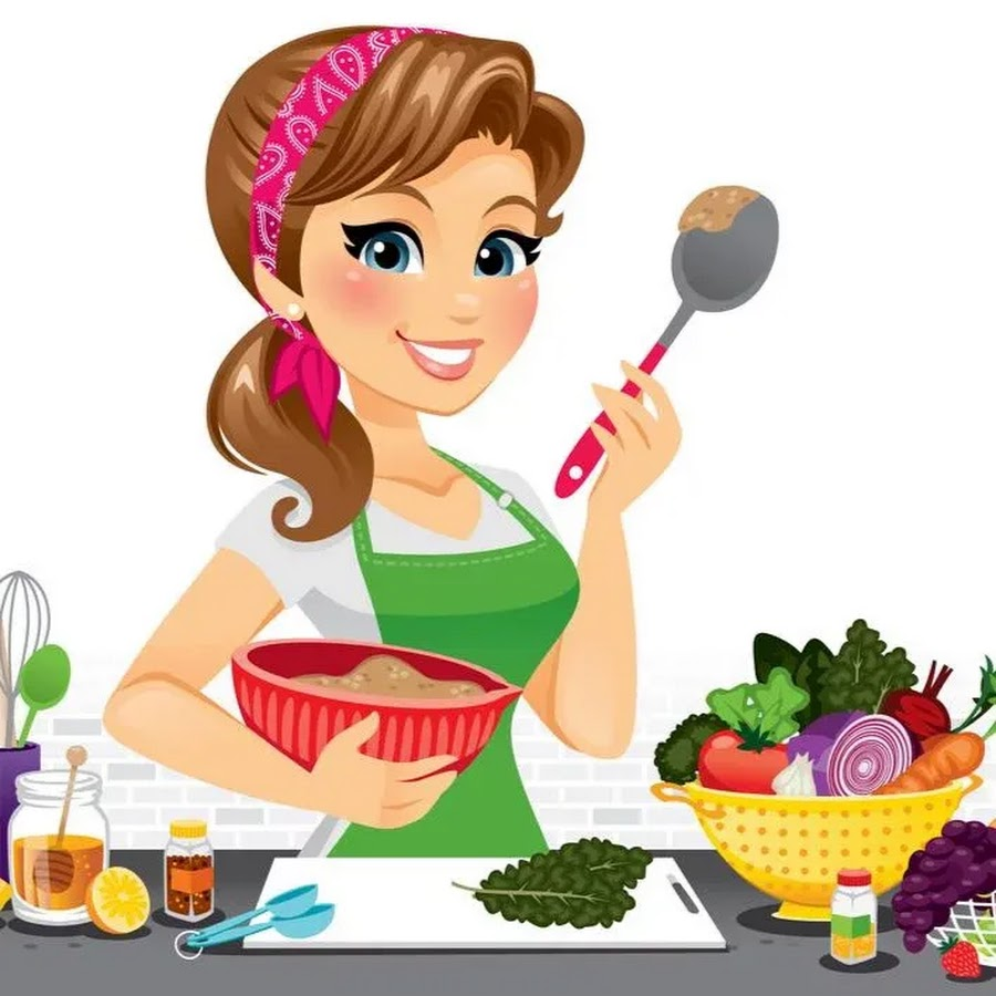 рисунок мама готовит на кухне
