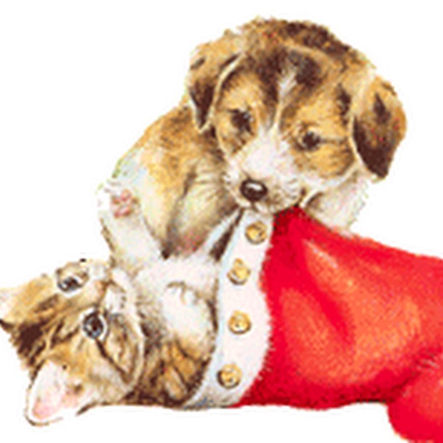 двигающиеся картинки кошки и собаки