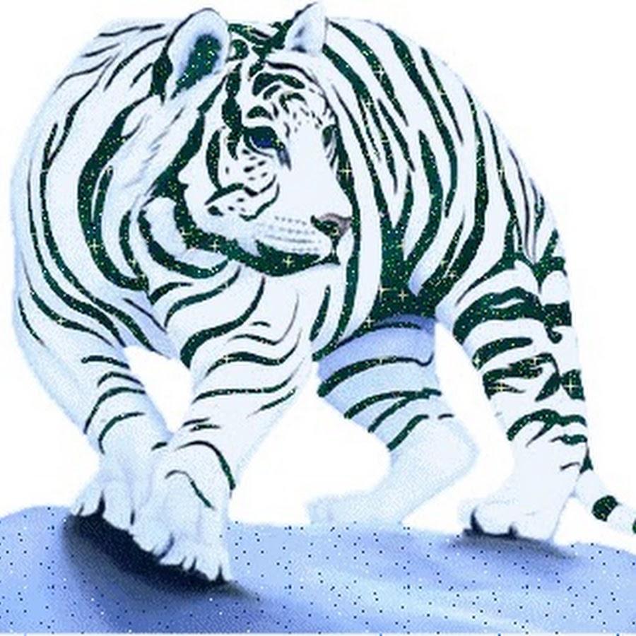 Белый тигр анимация картинки