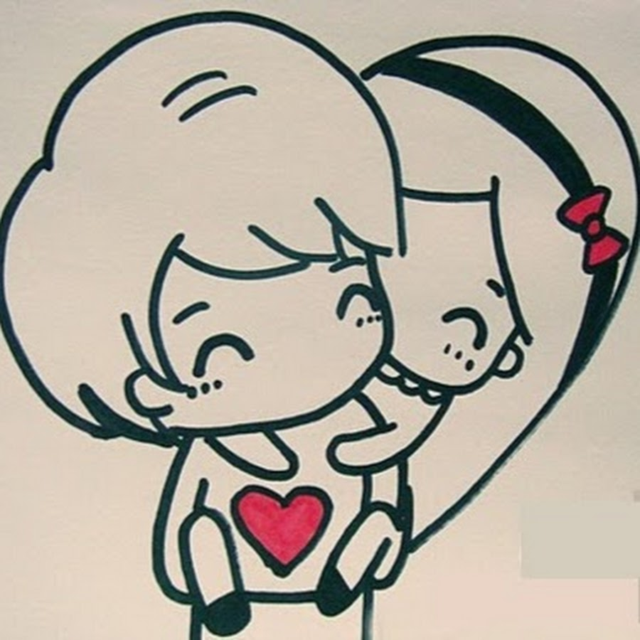 Милые картинки про любовь для срисовки легкие