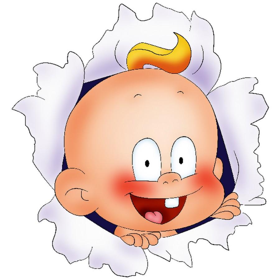Смешной ребенок картинка рисованная