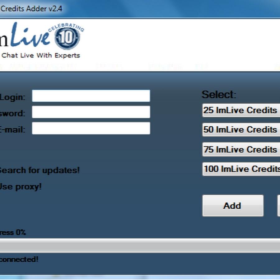 Imlive free credits
