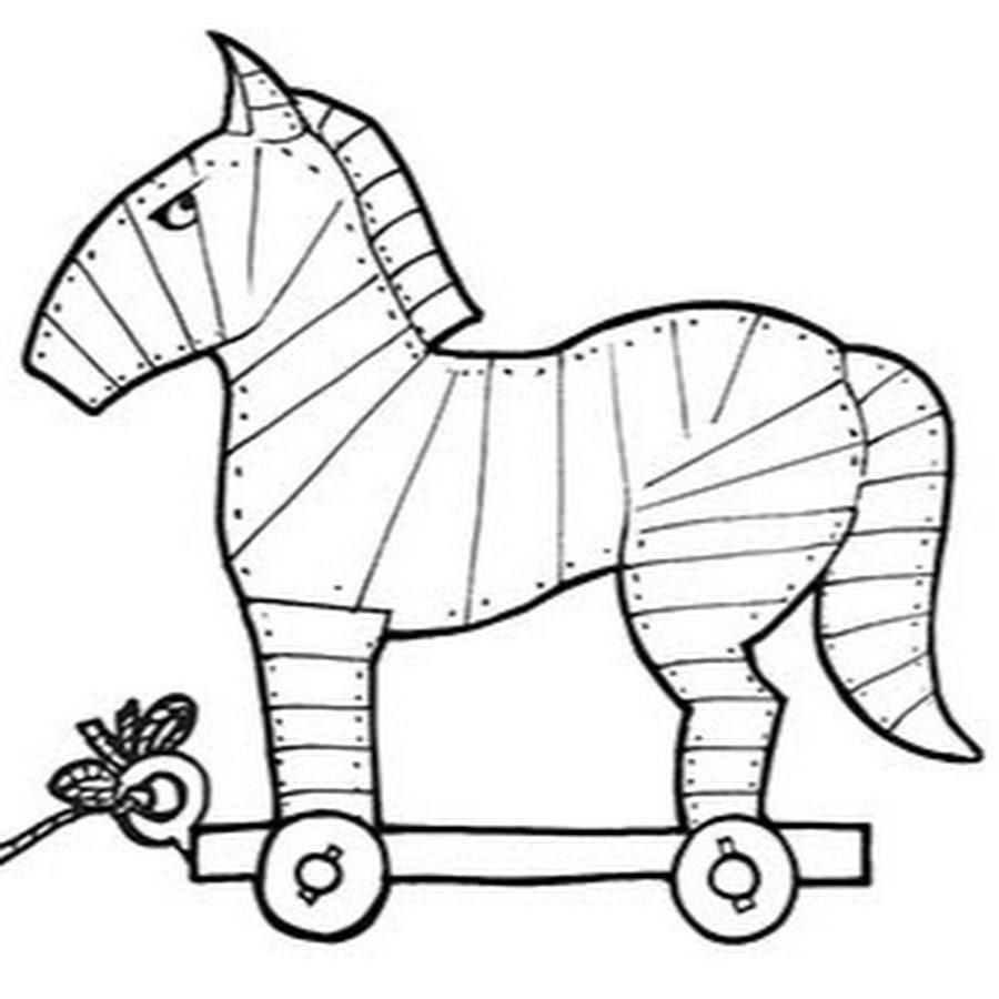 троянский конь картинка срисовать делайте
