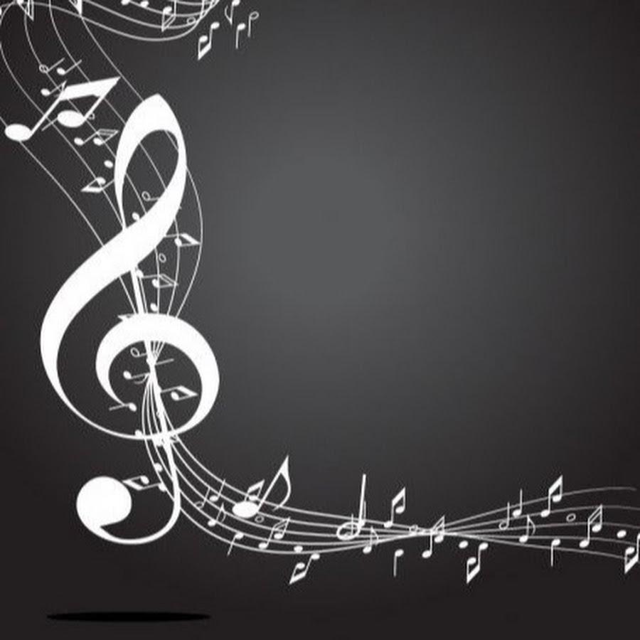 Картинки ноты на черном фоне