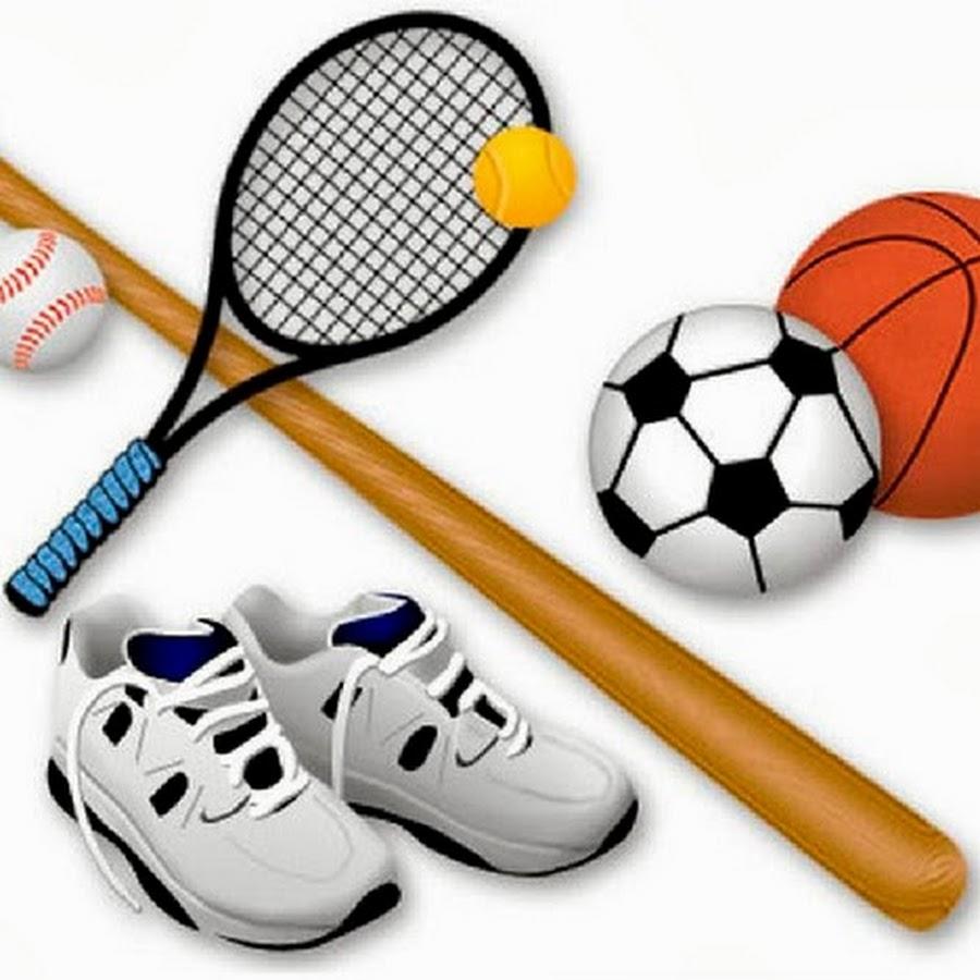 Открытка со спортивным инвентарем