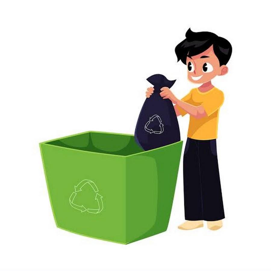 отличие него, на этой картинке мужчина выбрасывает мусор подобное