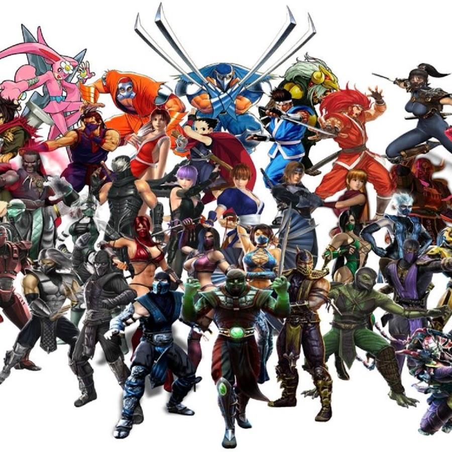 картинки с персонажами разных игр крайне