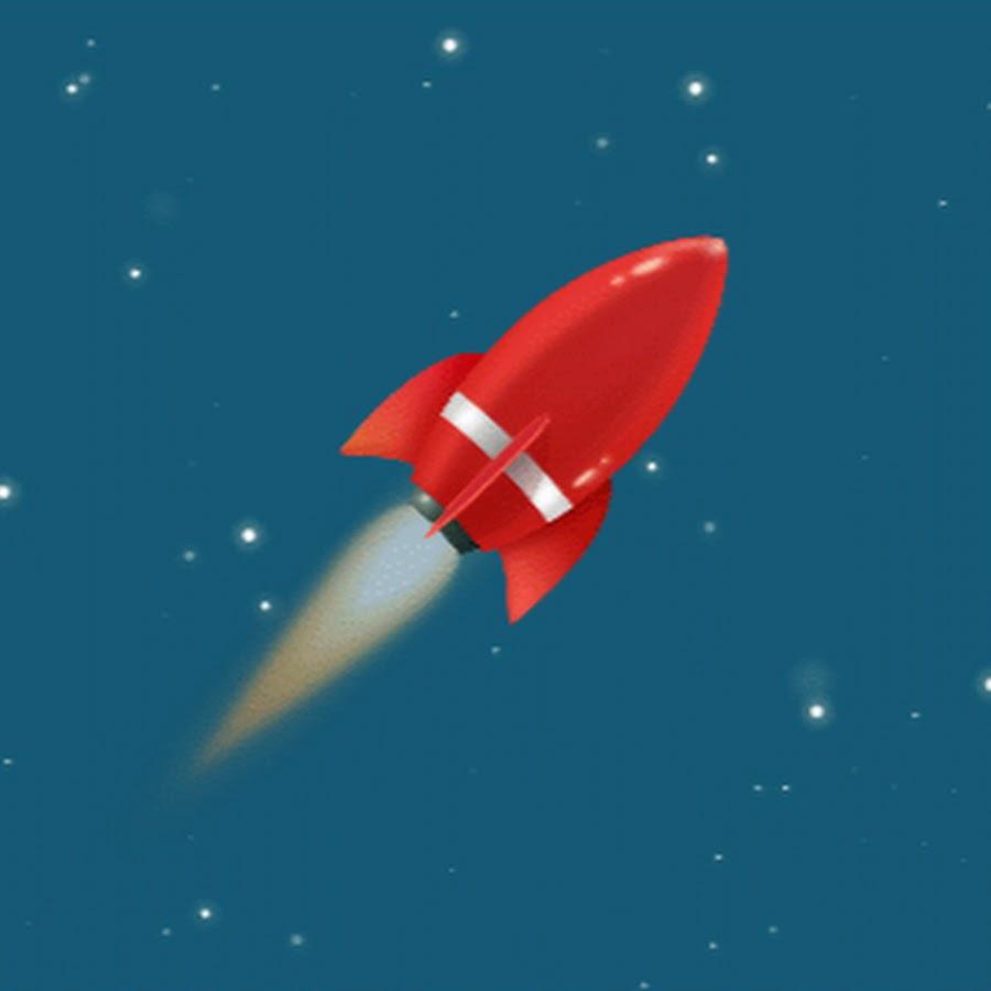 Анимация ракета летит в космос