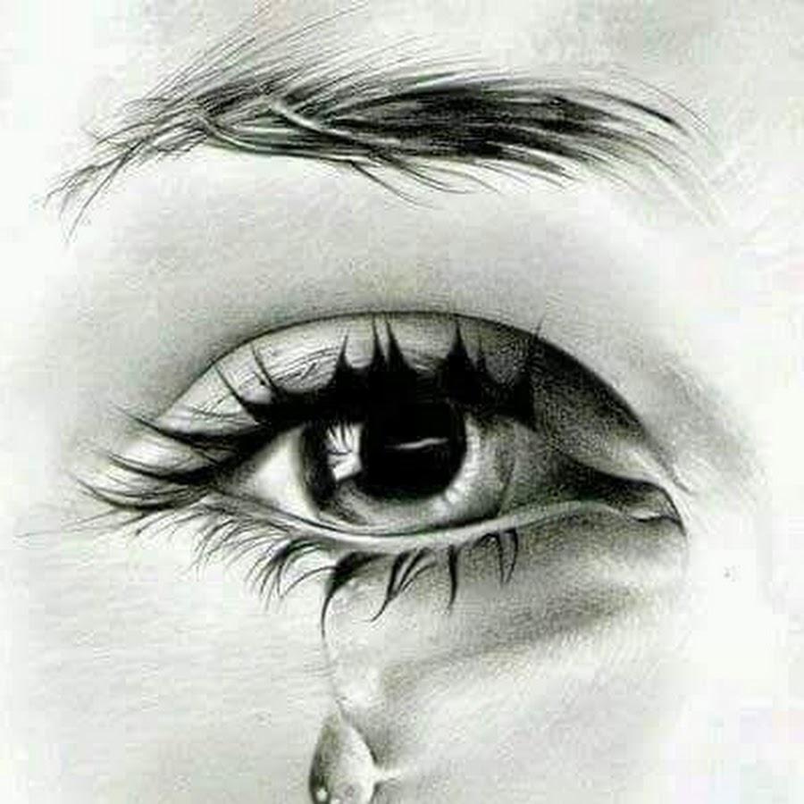 рисунки закрытые глаза со слезами стесняйтесь если вам