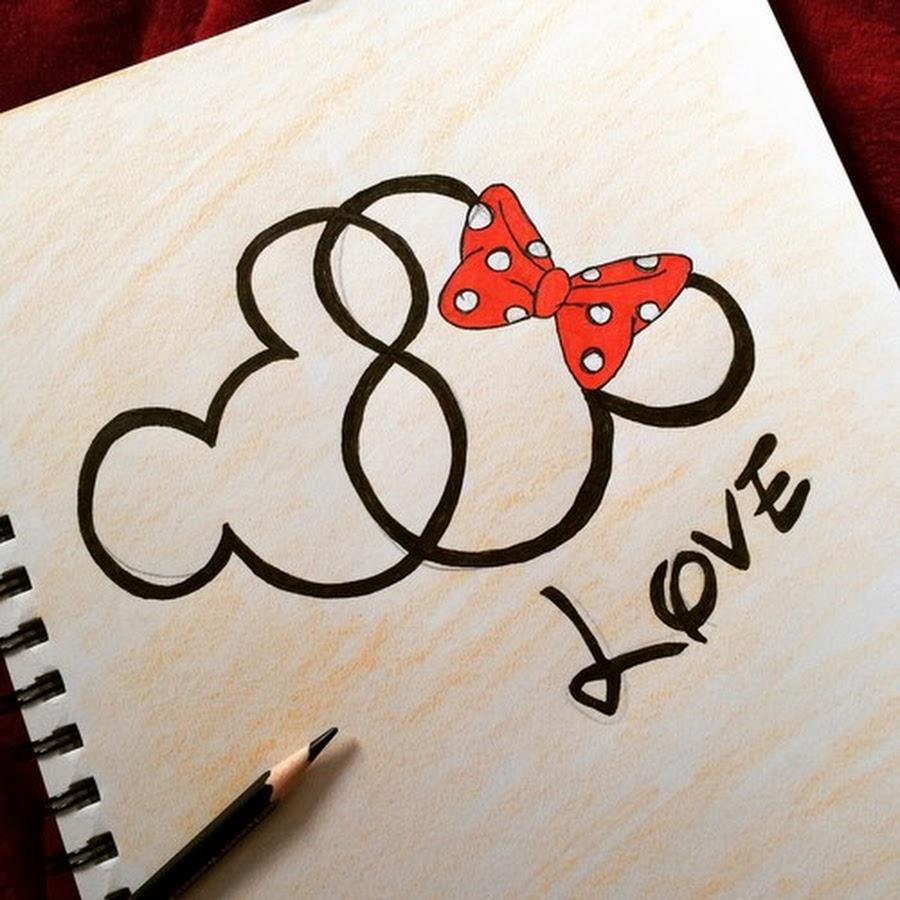 Картинки про любовь на бумаге