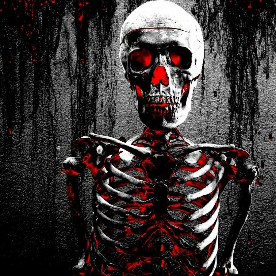 символ фото на аву красный скелет меня