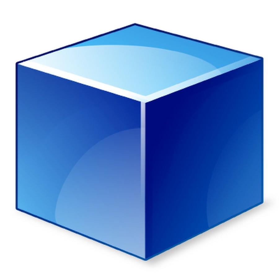 Картинка синего кубика