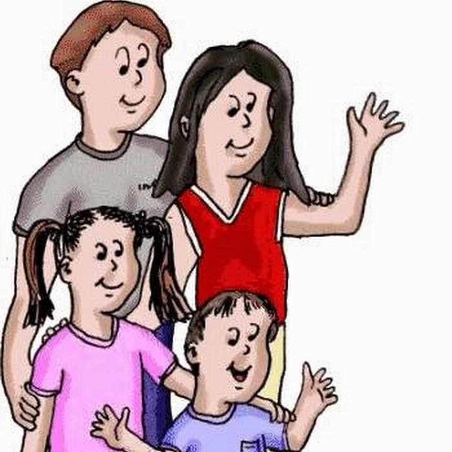 Семья в картинках анимация на прозрачном фоне