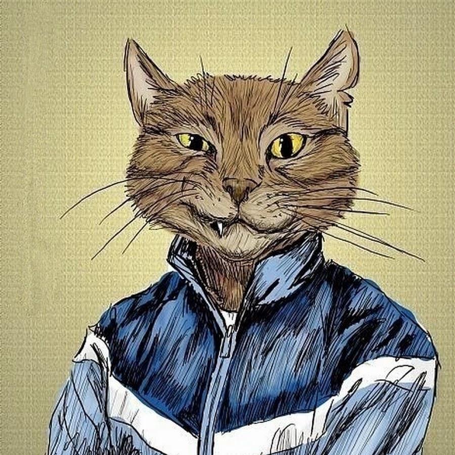 Крутые рисунки с котом