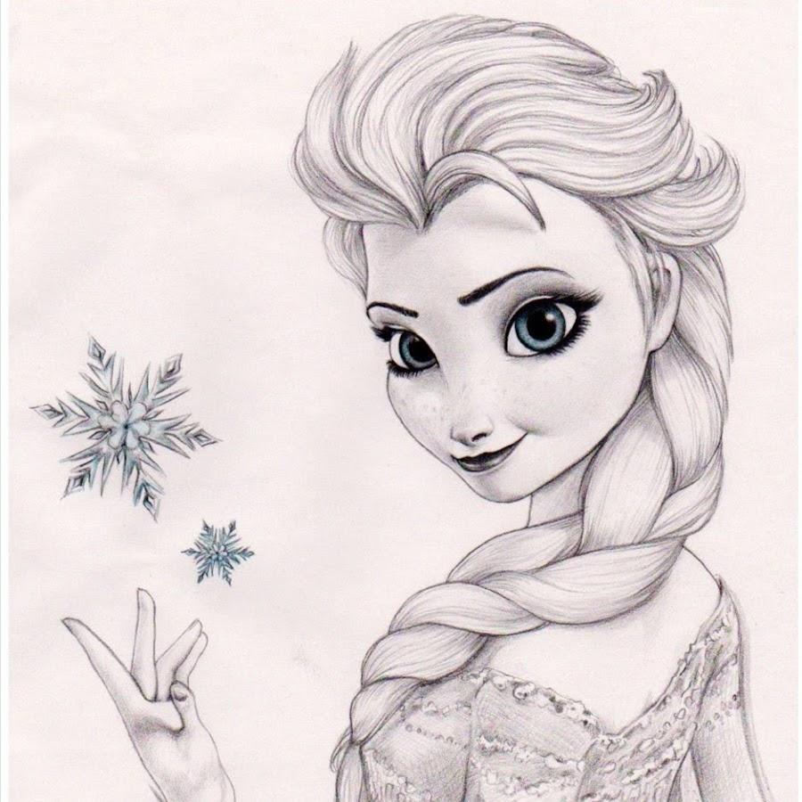 Картинки как рисовать холодное сердце эльза