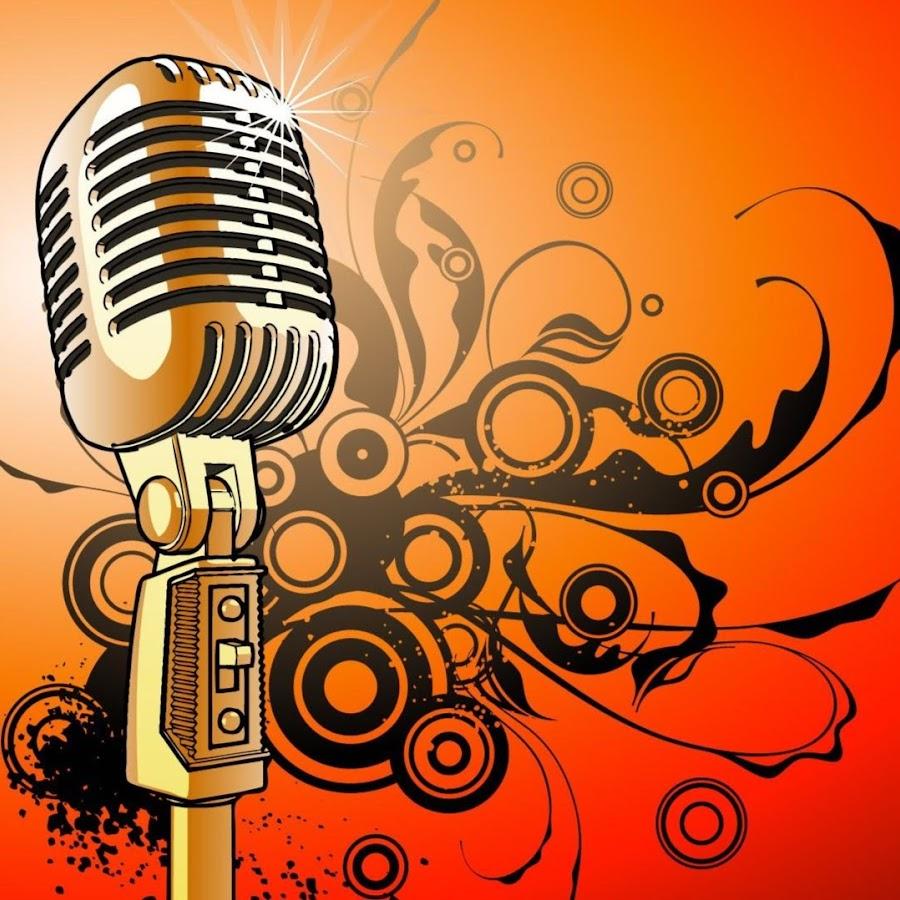 Картинка рисунок микрофон сцена певец