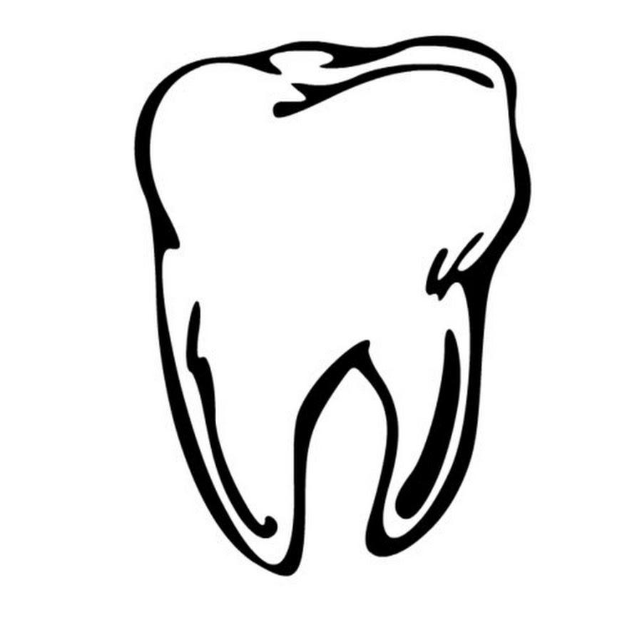 Нарисовать зуб картинки