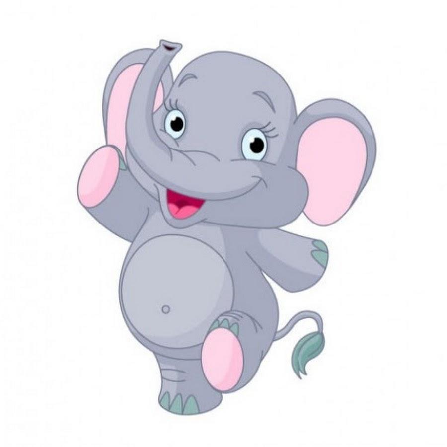 слоненок картинка для малышей костяк