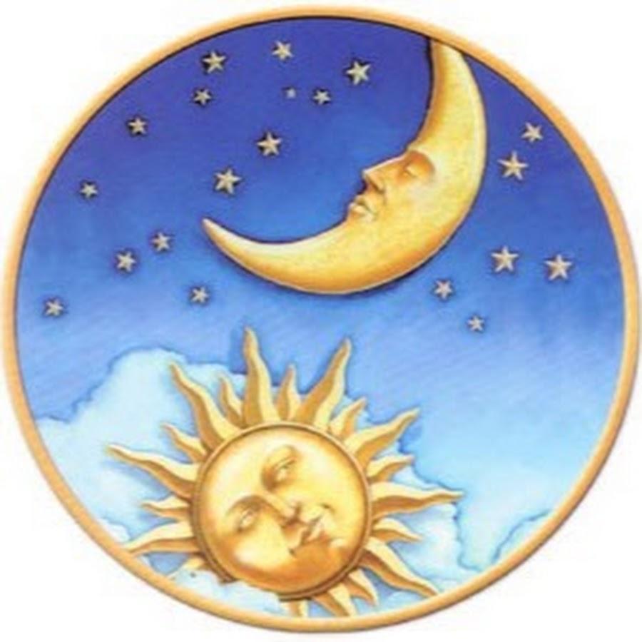 Солнце и месяц картинки для детей нарисованные