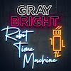 Robot Time Machine with Gray Bright. Tomorrow Show