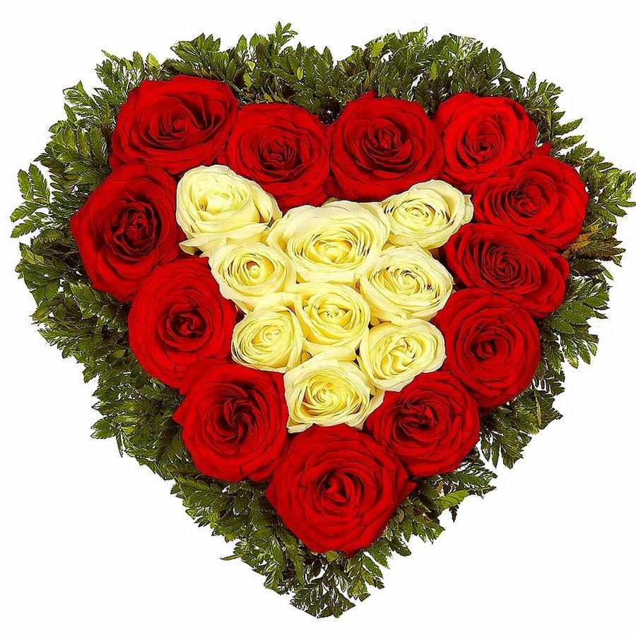 Картинки в виде сердца с цветами