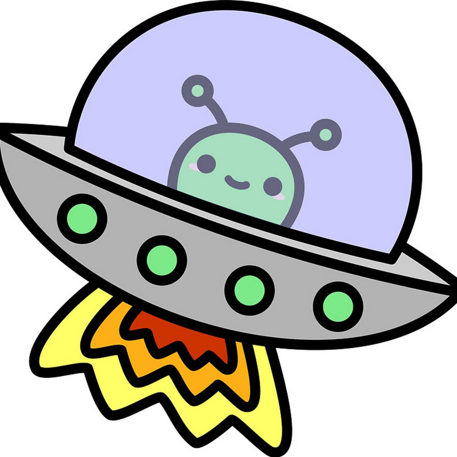 Рисунок летающая тарелка с инопланетянином