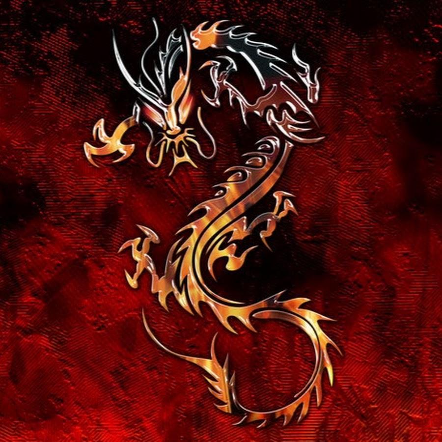 картинка красного дракона на черном фоне изображении