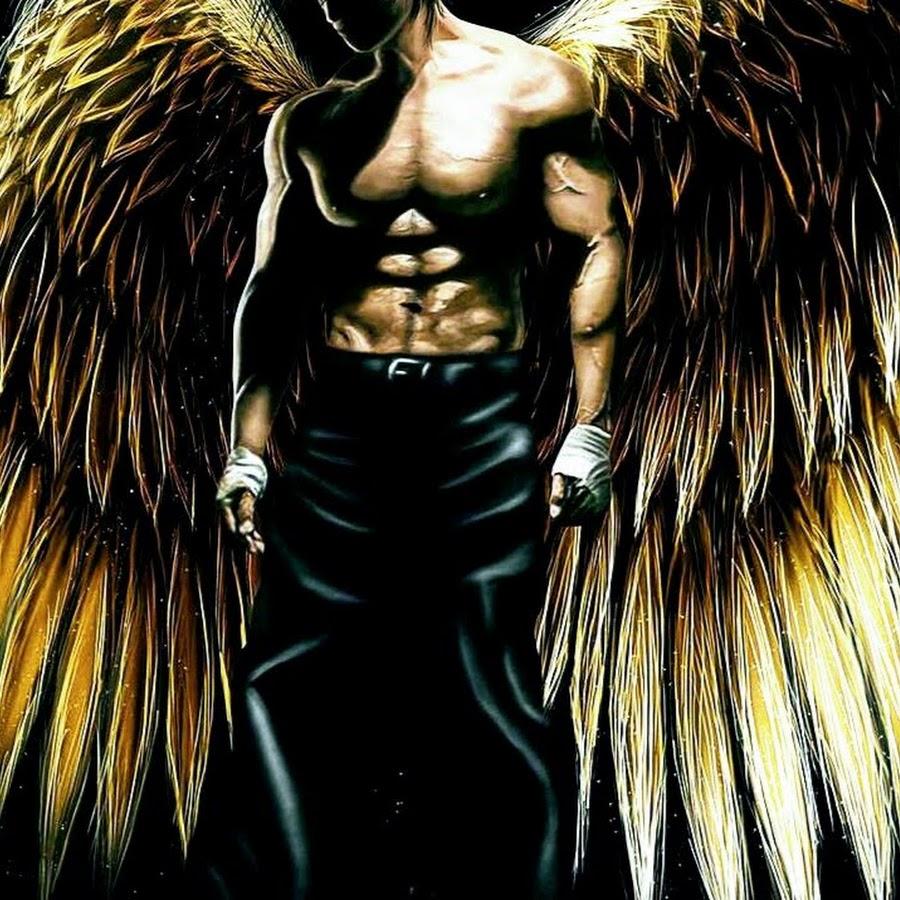 картинки со спины ангел мужчина