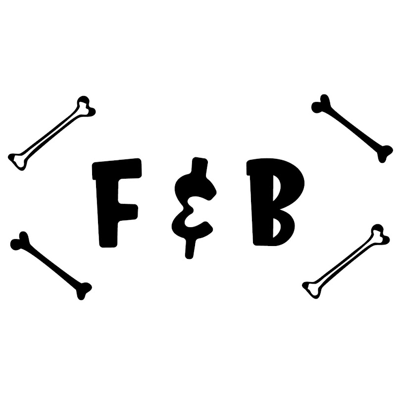 Logo for Fossil and Bones F&B