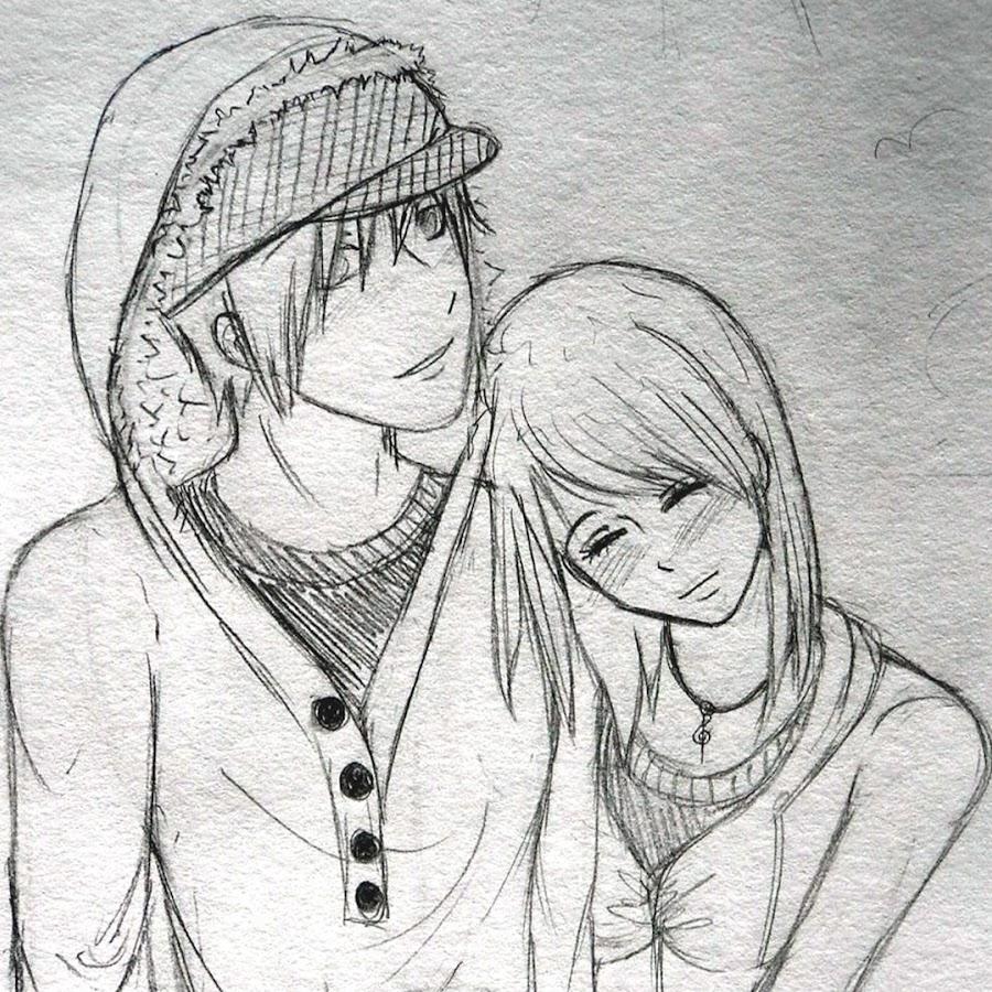 Картинки нарисованных девушек и парней простым карандашом