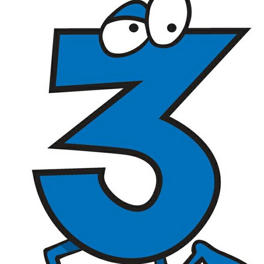 Картинка цифры тройки для детей
