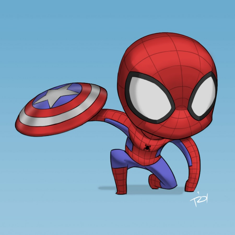 Картинки человек паук мультяшные