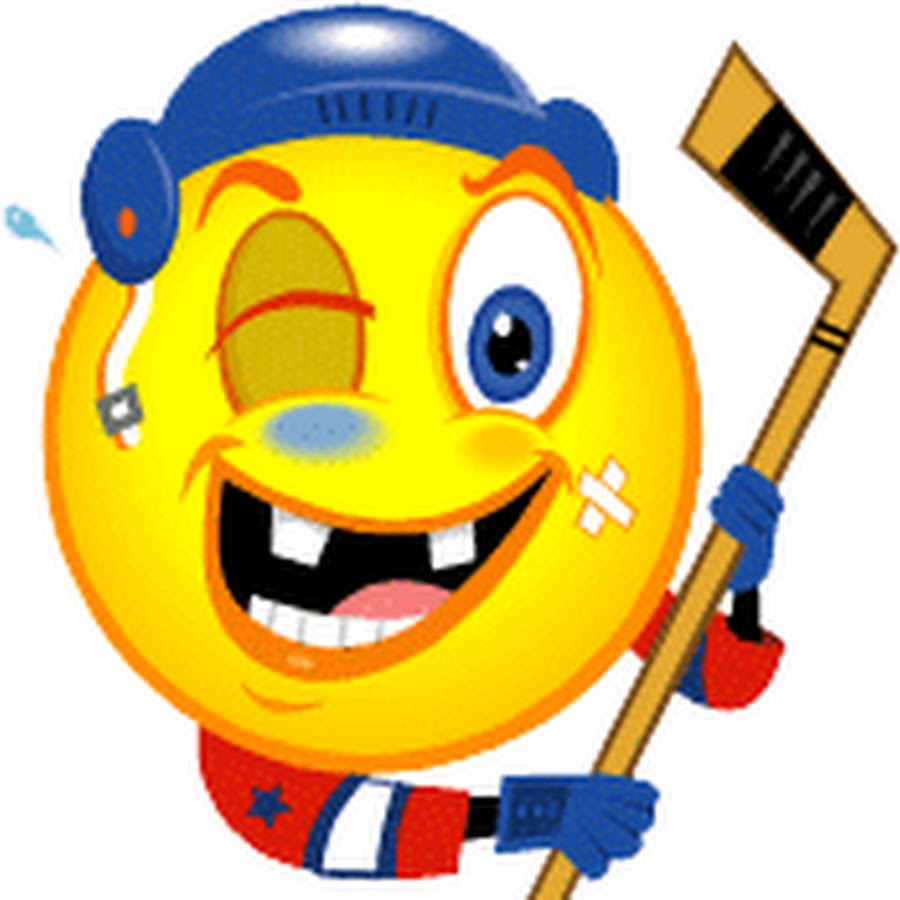 смайлик хоккеист картинки губы, глаза при