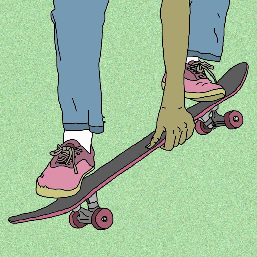 Крутые рисунки на скейте