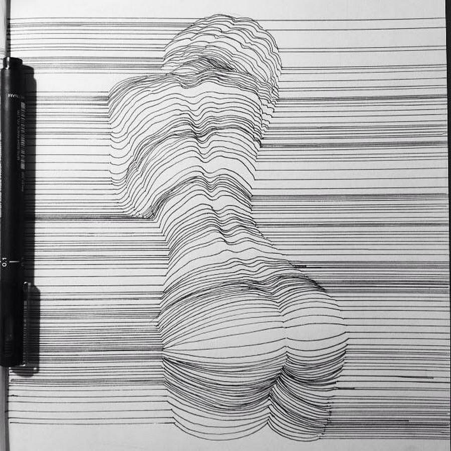 рисунки из линий карандашом толстые и тонкие проблемы