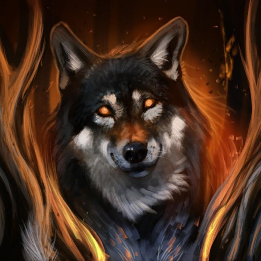 найти картинку волк в огне